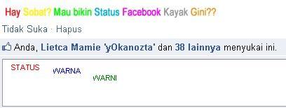 cara membuat status facebook warna warni trik facebook ini adalah